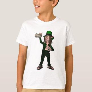 Irish Leprechaun with Tankard T-Shirt