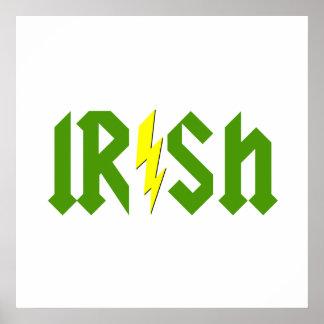 Irish Lightning Poster