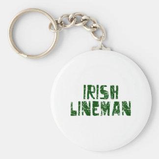 Irish Lineman Keychain
