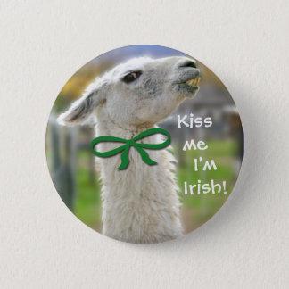 Irish Llama: Kiss Me Button