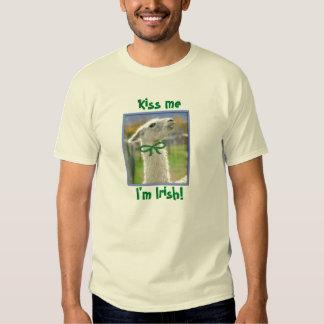 Irish Llama Tee Shirt: Kiss Me