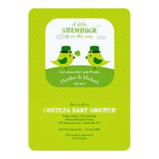 Irish Love Birds Shower Invitation