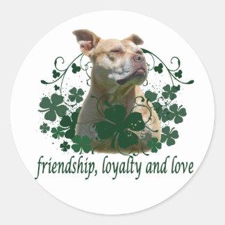 Irish Love Classic Round Sticker