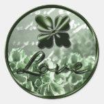 Irish Love Envelope Seal Round Stickers