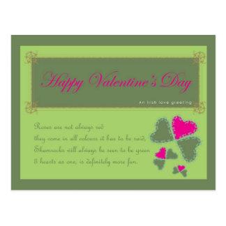 Irish Love Message Postcard