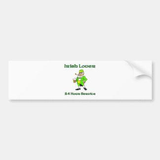 Irish Lover 24 Hour Service Car Bumper Sticker