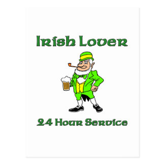 Irish Lover 24 Hour Service Postcard