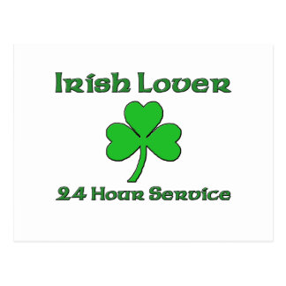 Irish Lover 24 Hour Service. Postcard