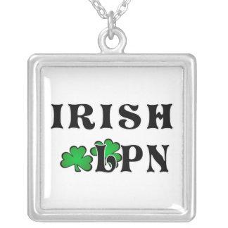 Irish LPN Square Pendant Necklace