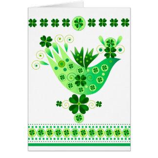 Irish Luck Bird Greeting Cards