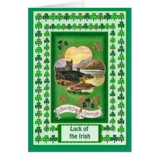 Irish Luck, Castle by a lough Card