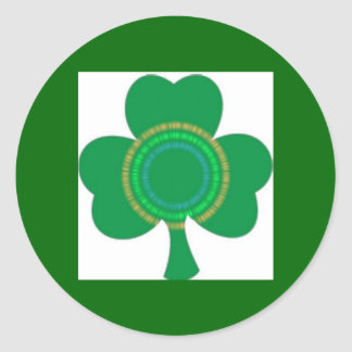 IRISH LUCK - Irish Lenticular Shamrock Classic Round Sticker