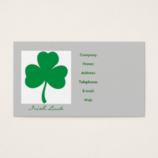 IRISH LUCK - Irish Shamrock Business Card