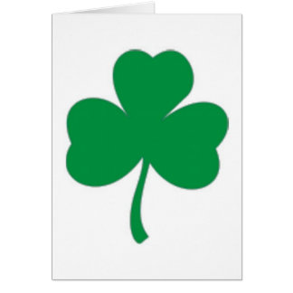 IRISH LUCK - Irish Shamrock Card