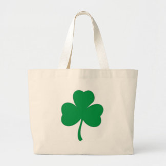 IRISH LUCK - Irish Shamrock Large Tote Bag