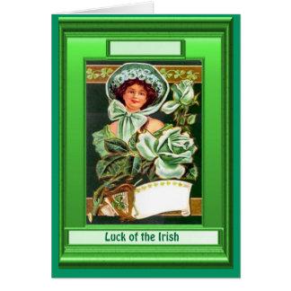 Irish Luck, Retro lady in Green Card