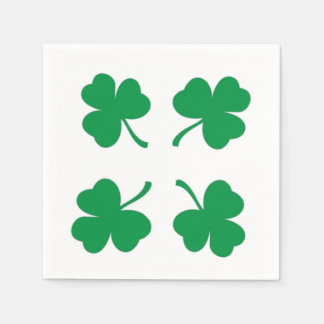 Irish Luck Shamrock Cocktail Paper Napkins