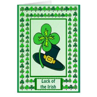 Irish Luck, Shamrock in my hat Card