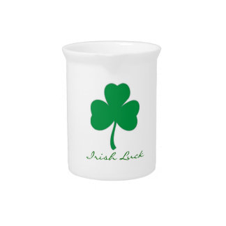 Irish Luck Shamrock Pitcher