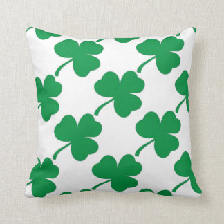 Irish Luck Shamrock Throw Pillow