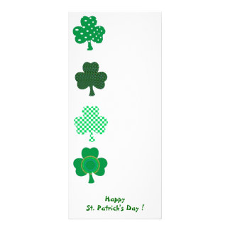 IRISH LUCK - St. Patrick's Day - 4 Shamrock Rack Card