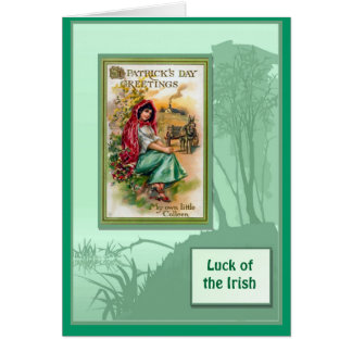Irish Luck, St Patrick's Day Greetings Card