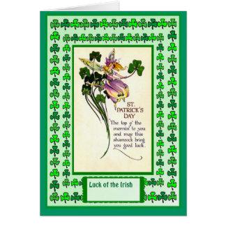 Irish Luck, St Patricks Day Poem Card