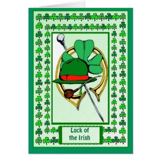 Irish Luck,  Symbols of Irish luck Card
