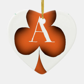 Irish 'Lucky' Ace of Clubs by Tony Fernandes Ceramic Ornament