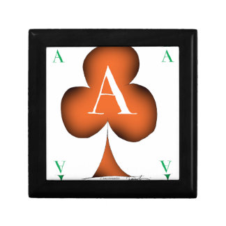 Irish 'Lucky' Ace of Clubs by Tony Fernandes Keepsake Box