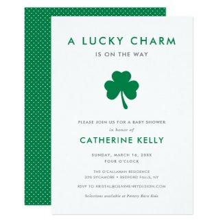 Irish Lucky Charm Spring Baby Shower Green Invitation