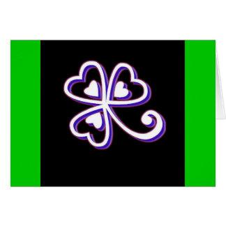 Irish Lucky clover Card