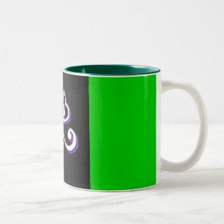 Irish Lucky clover Two-Tone Coffee Mug