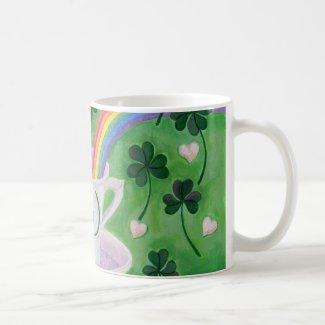 Irish Lucky Coffee Cup painting Mug
