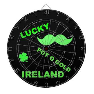 Irish Lucky Pot o Gold Quotes Dartboard