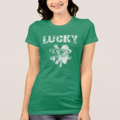 Irish Lucky Shamrock T-shirt at Zazzle