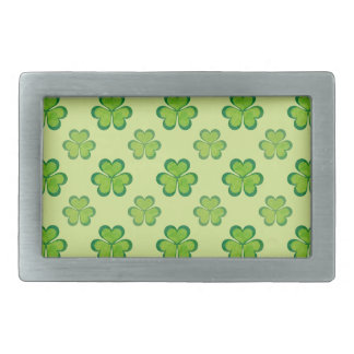 Irish Lucky Shamrocks Clovers Seamless Pattern Belt Buckle