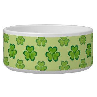 Irish Lucky Shamrocks Clovers Seamless Pattern Bowl