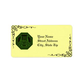 Irish Lyre Wreath & Vine Address Labels