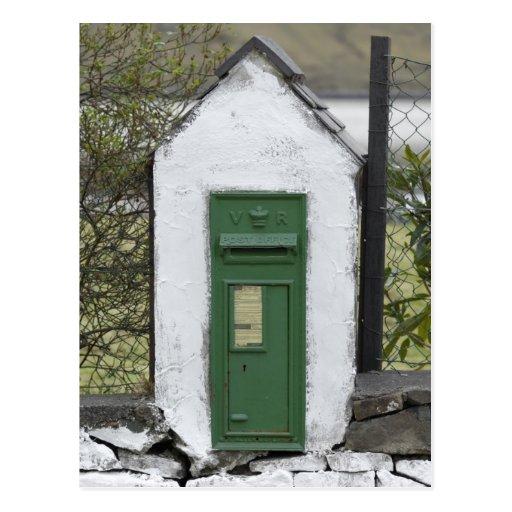 Irish Mail Box Postcard