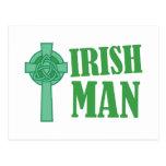 Irish Man Postcard