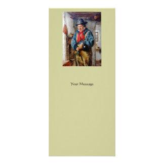 Irish Man Puts Whiskey Into Flask Bookmark Rack Card