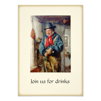 Irish Man & Whiskey Drinks Party Cocktails Card