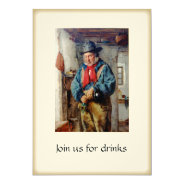Irish Man & Whiskey Drinks Party Cocktails 5x7 Paper Invitation Card at Zazzle