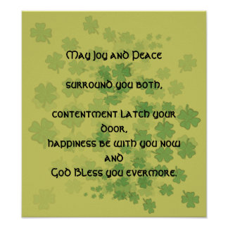 Irish Marriage Blessing - Poster
