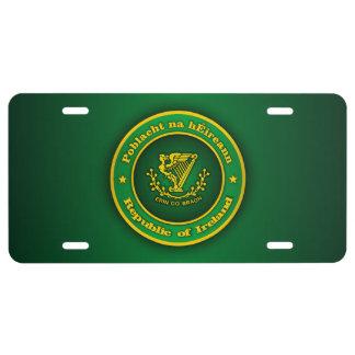 Irish Medallion License Plate