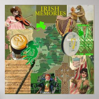 IRISH MEMORIES  POSTER from 14.95