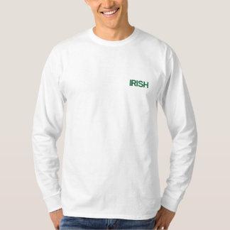 IRISH MEN'S LONG SLEEVE EMBROIDERED LONG SLEEVE T-Shirt