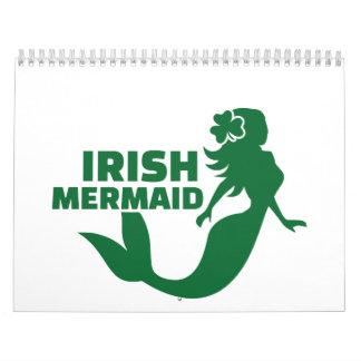 Irish mermaid calendar