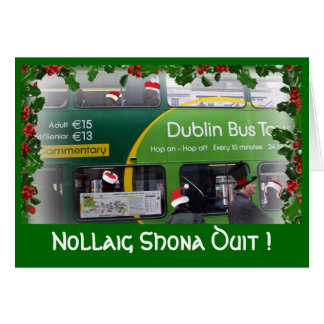 Irish Merry Christmas - Dublin Greeting Card